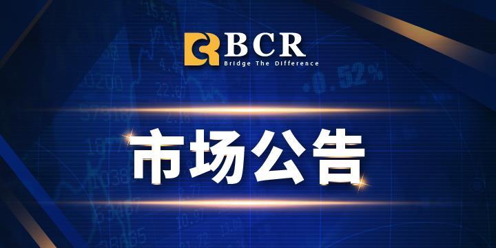 BCR:美国独立日假期交易时间