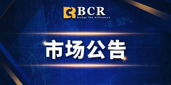 BCR:2021年八月份差价合约到期日